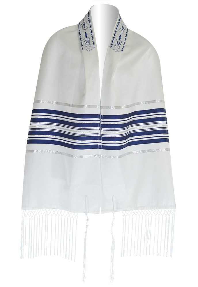 Ariel Tallit Blue/Silver Size & Fit Guide