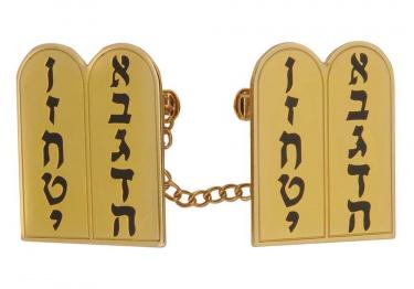10 Commandments Gold Tallit Clips