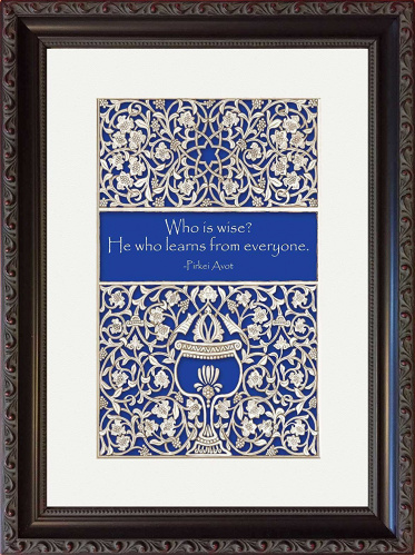 Blue Goblet Bar Mitzvah Framed Art