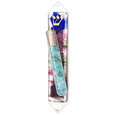 Beames Designs Floral Mezuzah with tube for Wedding Shards