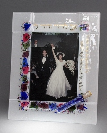 Floral Wedding Frame with tube for Wedding Shards