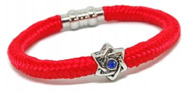 Swarovski Star of David Red Bendel Nylon Bracelet