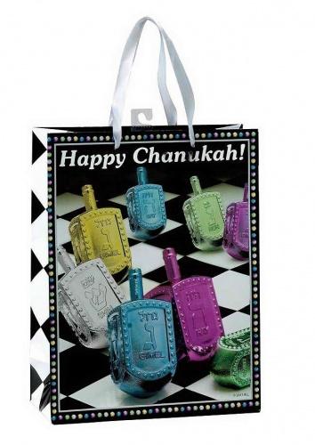 Chanukah Gift Bag - Checkered