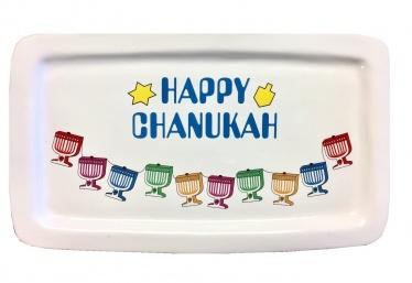 Happy Chanukah Ceramic Plate