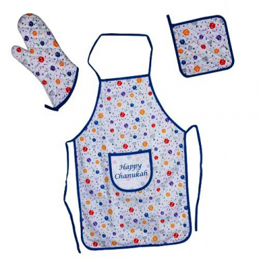 Happy Chanukah Apron Set