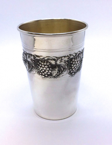 Sterling Silver Grape Stemless Kiddush Cup