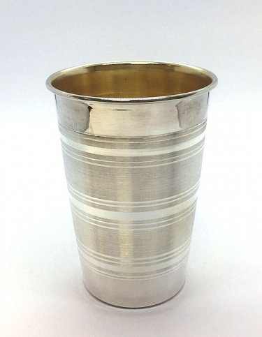 Sterling Silver Modern Stemless Kiddush Cup