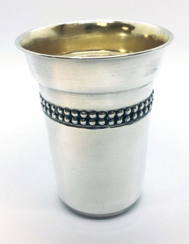 Sterling Silver Bayla Stemless Kiddush Cup