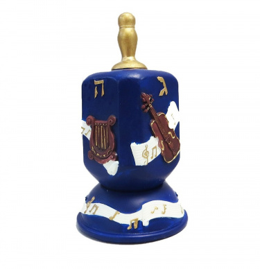 Polystone Musical Instruments Dreidel and Stand