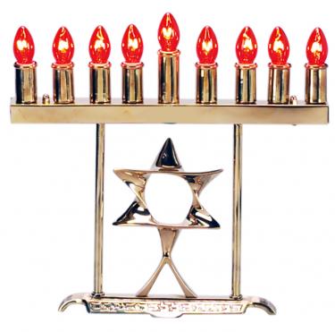 Electric Jewish Star Menorah