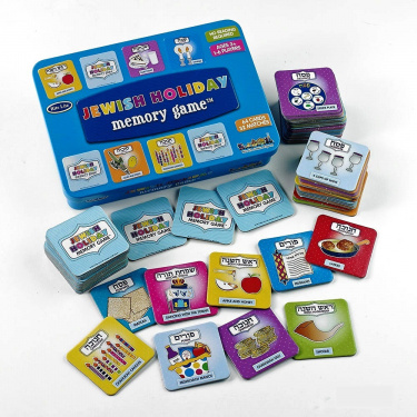 Jewish Holidays Memory Game in Collectible Tin