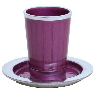 Purple Enamel Stemless Kiddush Cup