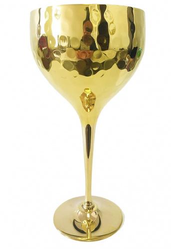 Tall Round Brass Plated Shabbat Kiddush Cup