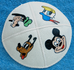 Mickey Mouse Hand Painted Yarmulke