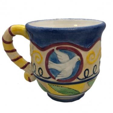 Dove Jewish Star Mug