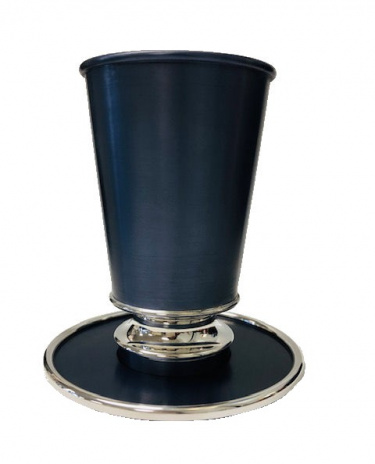 Slate Gray Leah Kiddush Cup with Tray
