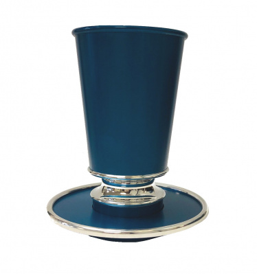 Turquoise Leah Kiddush Cup with Tray