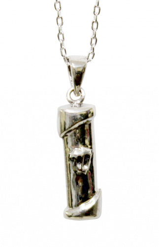 Sterling Silver Mezuzah Pendant