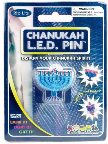 Menorah Shaped Flashing LED Pin