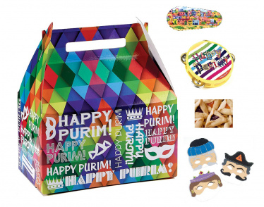 Filled Purim Shalach Manot Gift Box