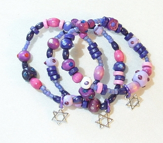 Purple Wood Bracelet