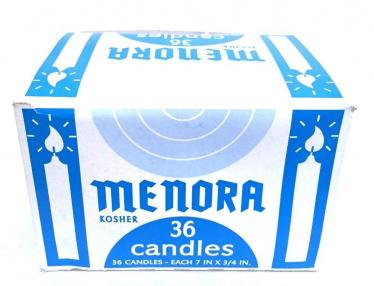 Menorah LONG Shabbat Candles