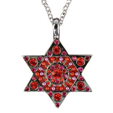Star of David Necklace - Red