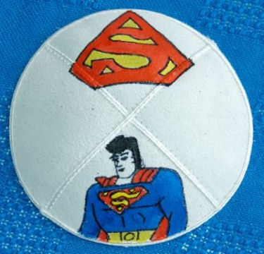 Superman Hand Painted Yarmulke