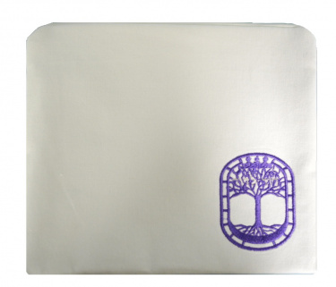 White and Violet (Purple) Tree of Life Tallit Bag