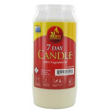 7 Day Yahrtzeit Candle
