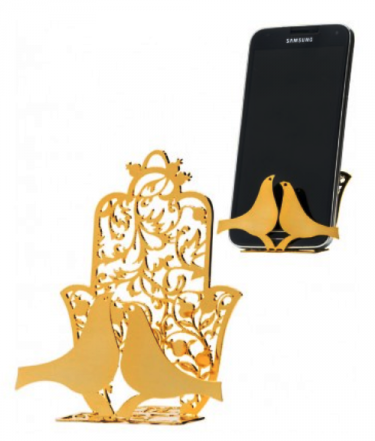 Hamsa Stand with Pair of Doves