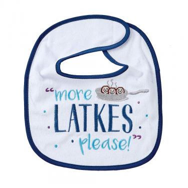 More Latkas Please Chanukah Bib