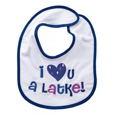 I Love U a Latke Bib