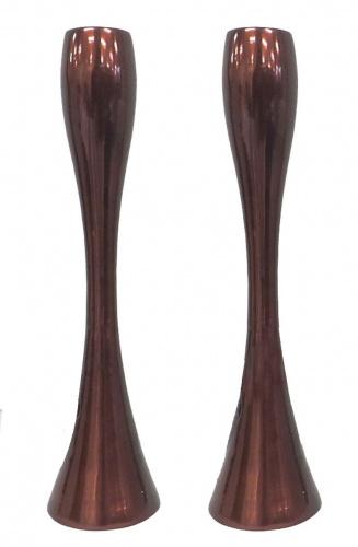 Copper-tone Contemporary Candlesticks