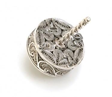 Round Filigree Sterling Silver Dreidel