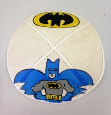 Batman Hand Painted Yarmulke
