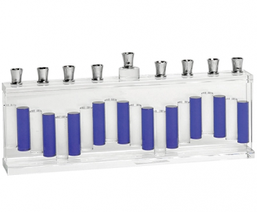 Crystal Menorah, Blue and White