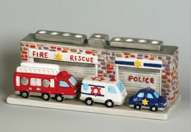 Fire, Rescue & Police Menorah