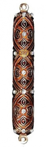 Copper and Brown Mezuzah