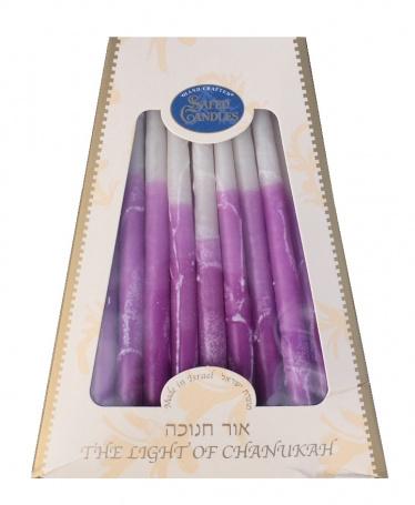 Safed Premium Chanukah Candles - Plum