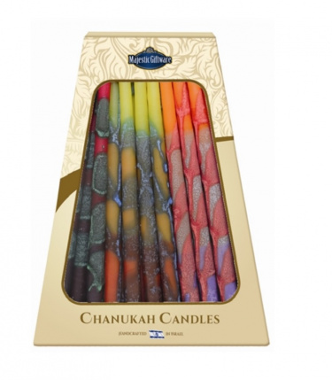 Safed Premium Chanukah Candles - Fire Tone