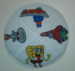 Sponge Bob Square Pants Hand Painted Yarmulke