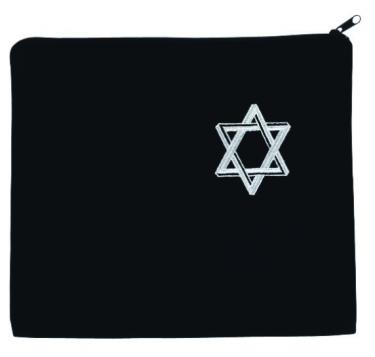 Star of David Black Tallit Bag