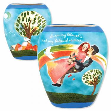 Ceramic Beloved's Jewish Wedding Vase
