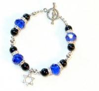 Bracelet ~ Sapphire Blue and Black Onyx.jpg